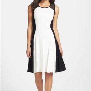 Elie Tahari | Patti Colorblock Fit & Flare Dress